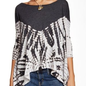 Free People Oversized Tie Dye Swing Tee Size S